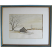 "Original Water Color ""Spring House At Concordville"" by Richard Carr"