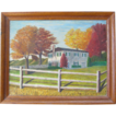 Bright Autumn Colors Country Landscape Oil on Canvas