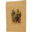 Hand Colored Etching in Paris Signed Robinson