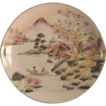 Hand Painted Japanese Plate Moriage and Pierced Handle Design