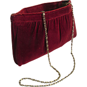 Red Velvet Clutch Evening Purse