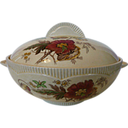Royal Staffordshire &quot;Georgian Spray&quot; Double Handle Tureen Bowl With Poppy Design