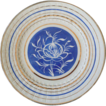 Edwin M. Knowles China Plate Floral With Stripe Design