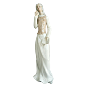 Tengra Porcelain Lady Tall Figurine Made In Spain