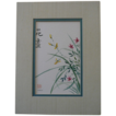 Oriental Floral Watercolor Painting Signed