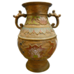 Champleve Double Handle Urn or Vase Japan