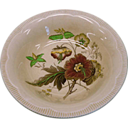 Royal Staffordshire &quot;Georgian Spray&quot; Vegetable Serving Bowl With Poppy Design