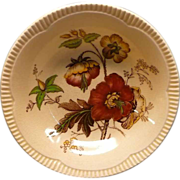 Royal Staffordshire &quot;Georgian Spray&quot; Small 5&quot; Bowl With Poppy Design