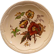Royal Staffordshire &quot;Georgian Spray&quot; Saucer Plate With Poppy Design
