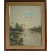 Fantastic Oil On Canvas Water Fowl Painting By Waterman