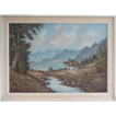 Mountain Landscape With Chalet And Stream By Jansen