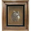 Oil On Canvas Owl Painting By Harris