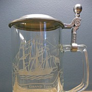 "Vintage ""Old Spice"" Grand Turk Stein With Pewter Lid Made In Germany"