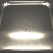 Vintage Kensington Aluminum Tray With Laurel Wreath Design