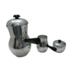 Aluminum 3 Piece Coffee Server, Creamer and Sugar Bowl Made In Spain