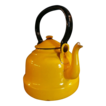 Bright Yellow Enamel Ware Teapot Poland