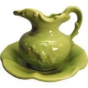 McCoy Light Green Pitcher With Bowl USA Made