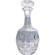 Heavy Lead Crystal Glass Decanter With Stopper  By Atlantis