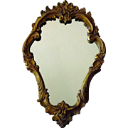 Gorgeous Rococo Wood and Composition Cartouche Mirror