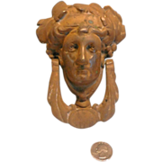 Antique Solid Brass Greek God Door Knocker With Bronze Finish
