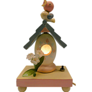 Vintage Birdie &quot;Irmi&quot;  With Nesting House Night Light From Nursery Plastics