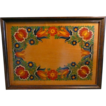 Nice Old Folk Art Tray or Hanging Handpainted  Dutch Style Flowers