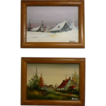 Miniature Paintings on Canvas Board Landscape