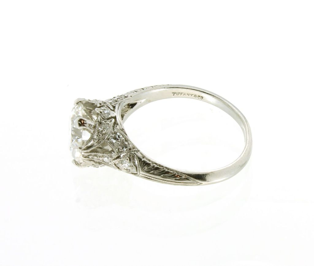 Vintage Tiffany Art Deco Platinum & Diamond Engagement Ring from artisans
