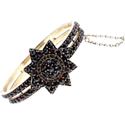 SALE Victorian Garnet Starburst Bangle