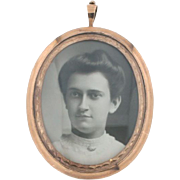 SALE Victorian Mourning Medallion