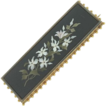 Vintage18K Yellow Gold Pietra Dura Rectangular Pin