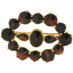 Vintage Gold Filled Garnet Pin