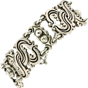 Vintage William Spratling Taxco &quot;980&quot; Sterling Vindobonensis Bracelet