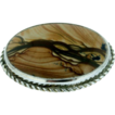 Sterling Silver & Picture Jasper Brooch