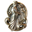 Huge Antique Art Nouveau Gibson Girl Woman Brooch -  Circa 1900