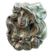 "Large Antique Art Nouveau Brooch - ""Sterline"" Classic Woman - Circa 1910"