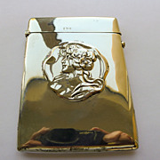 Antique Art Nouveau Large Sterling Silver Cigarette/Card Case -  1904