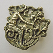 Brooch - Sterling Front Antique Art Nouveau - Circa 1900