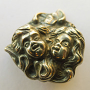 Brooch - Sterling Silver Antique Art Nouveau - Pristine - Circa 1900