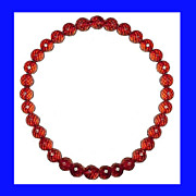 SALE BAKELITE Cherry Red Faceted Choker Necklace