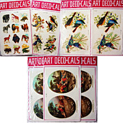 SOLD Vintage Decals Birds Wild Animals More Art Deco-Cals Made in Italy