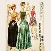 SOLD Vintage Pattern Mc Calls 6615 Blouse & Gored Skirt 2 Lengths 1962 Size 12