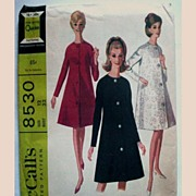 SOLD Vintage 1960s Coat Pattern Mc Calls 8530 Misses Size 12 Uncut