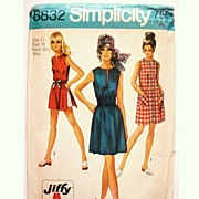 SOLD 1970 Vintage Pattern Simplicity 8832 Dress / Tunic Shorts Easy Sew Size 12