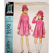 SOLD Vintage McCalls Pattern 9150 Girls Dress with Hat / Bonnet Size10