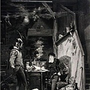 Faust and Mephistopheles 1879 Antique Photogravure Print
