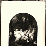 Orpheus Antique Photogravure Print 1879