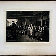 The School Examination 1879 Antique Photogravure Print