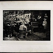 The Smokers Rebellion Antique 1879 Photogravure