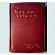 A Nonsense Anthology by Carolyn Wells 1902 First Edition Poetic Humor